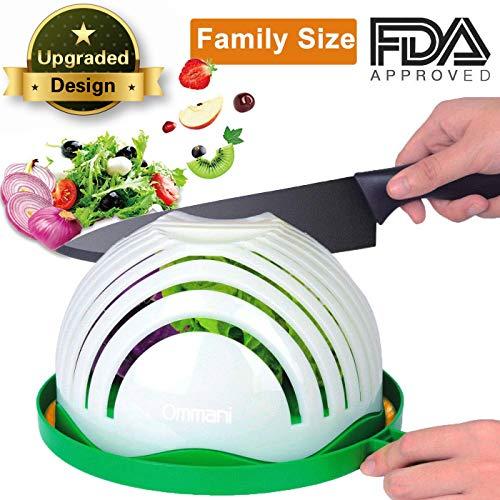 Salad Cutter Bowl, Salad Chopper Bowl 61 Seconds Salad Maker Family-Sized All in One for Kitchen Fast Fruit Vegetable Salad Slicer