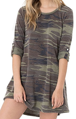 Z SUPPLY The Camo Symphony Dress (Extra Small, Camo (Extra Small Green Camo)