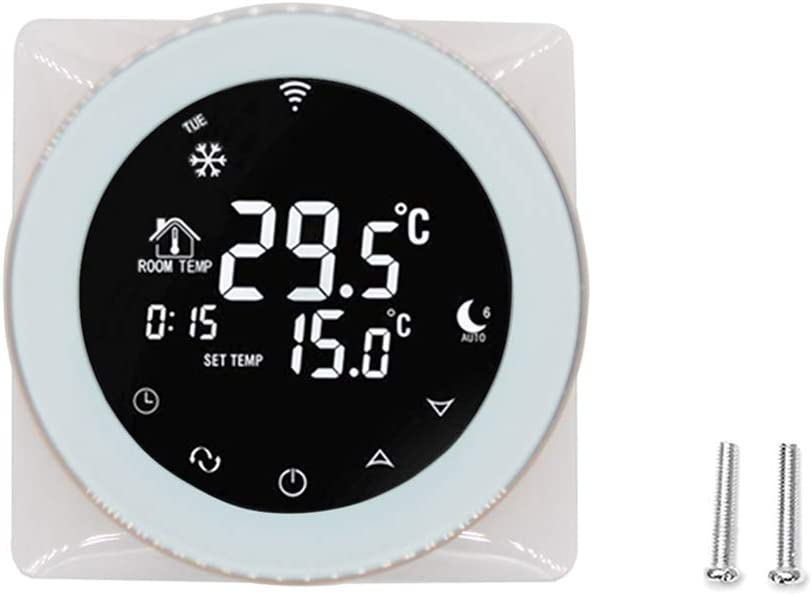 Ben-gi Caldera de Gas Inteligente WiFi Pantalla LCD Que calientan el termostato termostato de Voz Pantalla táctil Termostato de Repuesto para Alexa/Página Principal de Google
