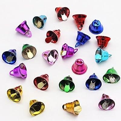 2x24pcs 12x12mm Colourful Jingle Small Metal Bells