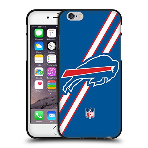 Official NFL Stripes Buffalo Bills Logo Black Soft Gel Case for Apple iPhone 6 / iPhone (Buffalo Case)