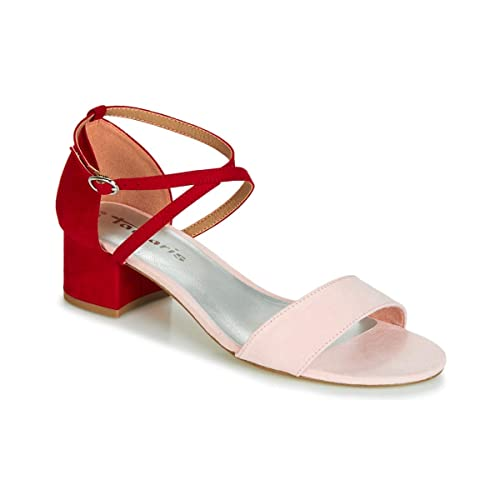 for whole family latest design official images Tamaris Damen Sandaletten Rosa/Rot