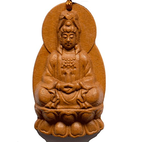 Handmade Rosewood carved Buddha Lucky charm,Bring Good luck, Money and Love in Your Life, Crafted at Thailand Temple (B)