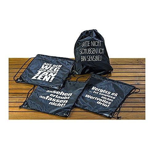 BZ Group Tasche schwarz Bitte nicht schubsen! Ich bin sensibel!