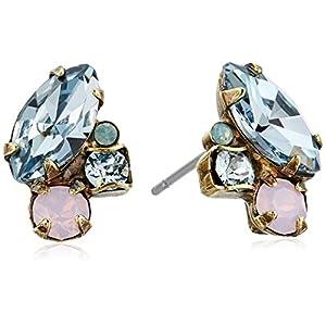 "Sorrelli ""Washed Pastels"" Multi-Cut Crystal Stud Earrings"