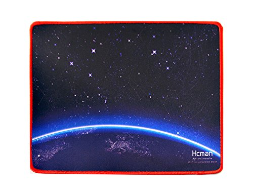 Hcman Galaxy Design Non-slip Rubber Gaming Mouse Pad (Space Black)