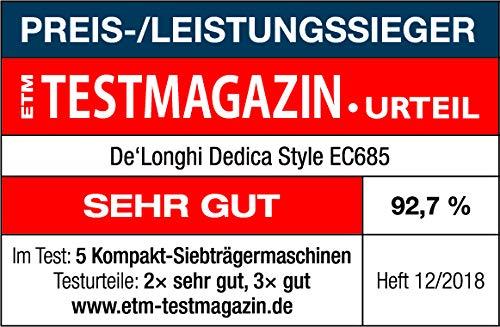 Testsieger Espresso Siebträgermaschine bis 200 Euro De'Longhi EC 685.R Dedica