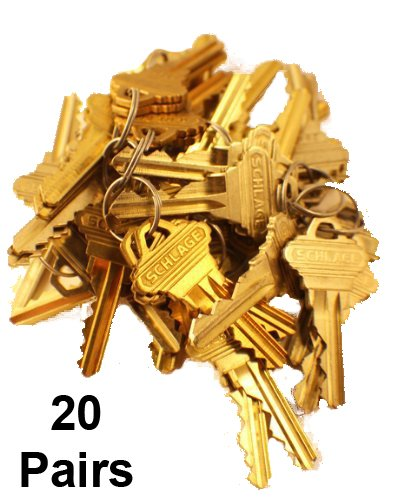 Schlage Original Factory Precut Keys (5 pin - C Keyway - 20 pairs)