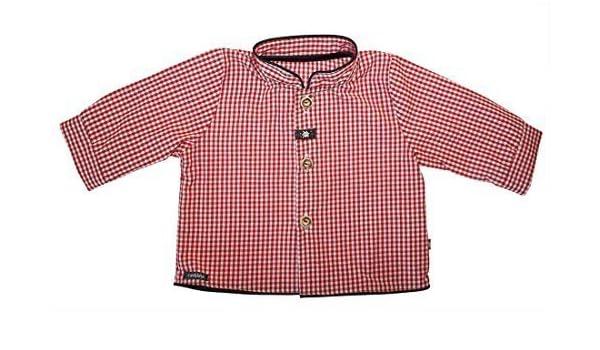 Carlina – bebé niño niños Traje Camisa 44880 de cuadros, color rojo y blanco rojo-blanco 74 : Amazon.es: Ropa y accesorios