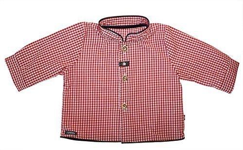 CARLINA - Baby Jungen Kinder Trachtenhemd 44880 in rot-weiss kariert