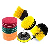 Drill Brush Attachment Set 12PCS Electric Washing Brush Electric Drill Set, Cleaning Supplies, for Grout, Tiles, Sinks, Bathtub, Bathroom, Kitchen & Automoblie