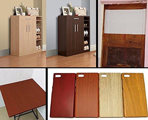 Black Moyishi Wood Grain Vinyl Sticker Decal Roll Car Interior Home Office Furniture DIY Film Wrap 30cmx100cm