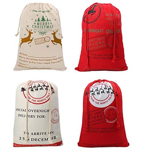 Christmas Large Sacks Santa Stocking Gift Sack Express Delivery Present Bag Red Drawstring Gift Bag Large Size-20