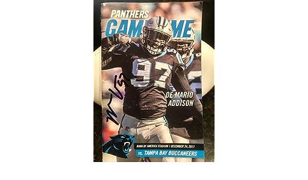 07e0ec13 Mario Addison Signed Autograph Game Day Magazine Carolina Panthers ...