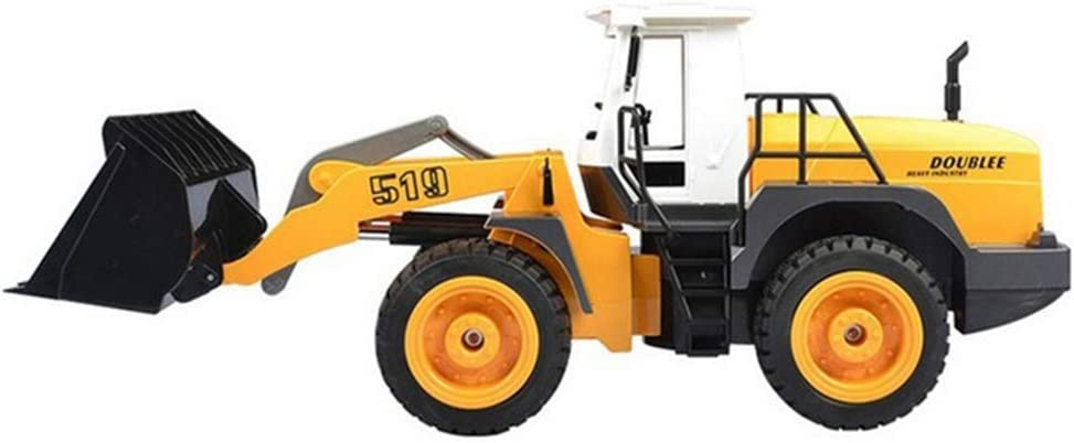 LinGo Coche Teledirigido Camión De Ingeniería Inalámbrico 2,4G 1:20 Iluminación De Demostración Pala Cargadora De Sonido Tractor Vehículo De Construcción RC Juego De Juguetes Electrónicos