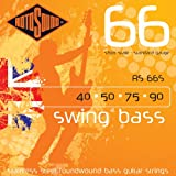 Rotosound RS66S Swing Bass 66 Stainless Steel Short-Scale Bass Guitar Strings (40 50 75 90)