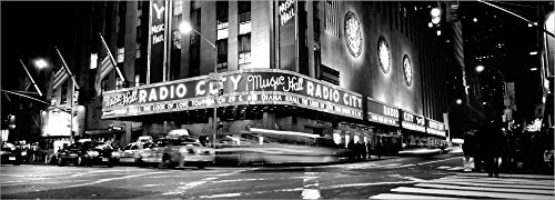 Manhattan, Radio City Music Hall, NYC, NY by Panoramic Images Laminated Art Print, 47 x 17 inches