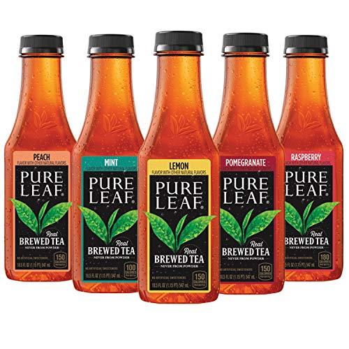 Pure Leaf Iced Tea, 5 Flavor Variety Pack, 18.5oz Bottles, 12 Count