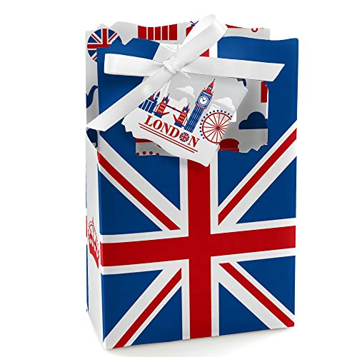 Big Dot of Happiness Cheerio, London - British UK Party Favor Boxes - Set of 12 (London British)