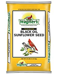 Wagner\'s 76027 Black Oil Sunflower, 25-Pound Bag