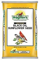 Wagner\'s 76027 Black Oil Sunflower, 25-Pound Bag