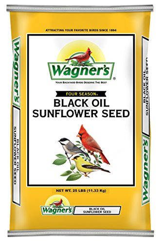 Wagner's 76027 Black Oil Sunflower, 25-Pound Bag (Sunflower Wild Bird Seed)