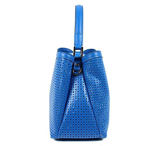 Gianni Chiarini - Borsa misura grande, in pelle traforata e con tracolla staccabile, Gianni Chiarini made in Italy - Blu elettrico - BS5126CAR/BST/FORO.BLUETTE - Blu - UNICA
