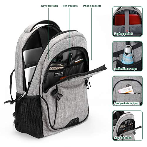 Travel Laptop Backpack with usb Charging Port for Women & Men School College Students Backpack Fits 15.6 Inch Laptop 3