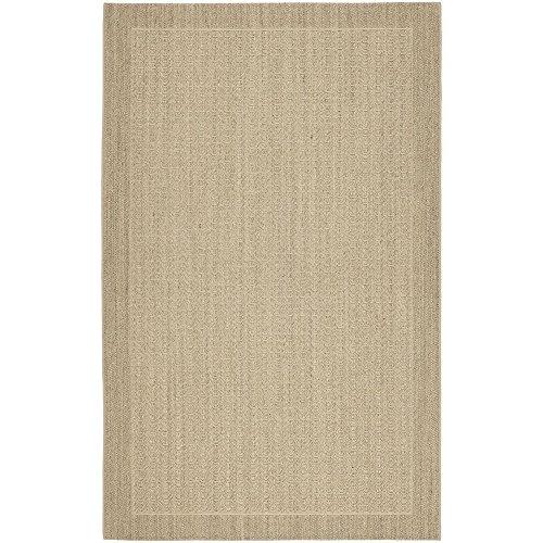 Collection PAB321A Desert Sand Sisal & Jute Area Rug (9' x 12') (Palm Sisal Rug)