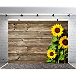 Sensfun-7x5ft-Wood-Photography-Backdrops-Country-Theme-Sunflowers-on-Rustic-Wood-Plank-Photo-Background-for-Wedding-Bridal-Shower-Birthday-Party-Photobooth-Banner-Children-Photo-Studio-PropsWP049