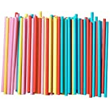 Assorted Colors Smoothie Straws, Pack of 100 Pieces (pack of 1, multi)
