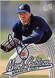 Mark Gubicza autographed baseball card (Anaheim Angels) 1997 Fleer Ultra #350