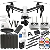 DJI CP.BX.000088 Inspire 1 Raw - Dual Remote w/ Zenmuse X5R Micro Four Thirds Aerial Camera Starters Bundle