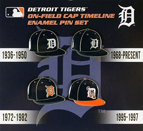 (aminco Detroit Tigers Cap Timeline Pin Set)