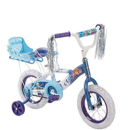 Huffy New 12 Inch Girls' Frozen Bike with Sleigh, Blue