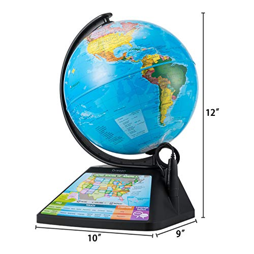 Oregon Scientific SG268R-K Smart Globe Adventure AR World Geography Educational Games For Kids - Learning Toy, 4000+ Fun facts, 220+ Countries to Explore, 25 Games to Play by Oregon Scientific (Image #2)