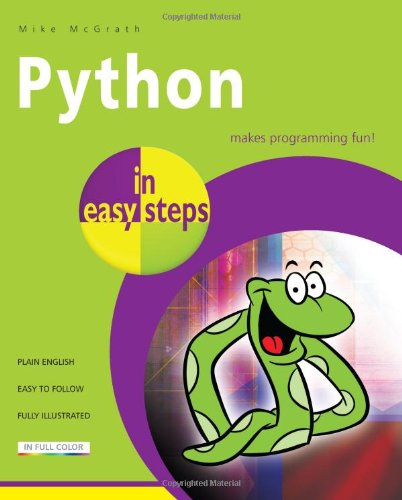 Book cover of Python in easy steps by Mike McGrath