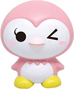 iBloom Little Penguins Cute Slow Rising Squishy Toy (Happy Wink, Pink, Strawberry Scented) for Birthday Gifts, Party Favors, Stress Balls, Play at Home & Relieve Stress with Kawaii Squishies for Kids