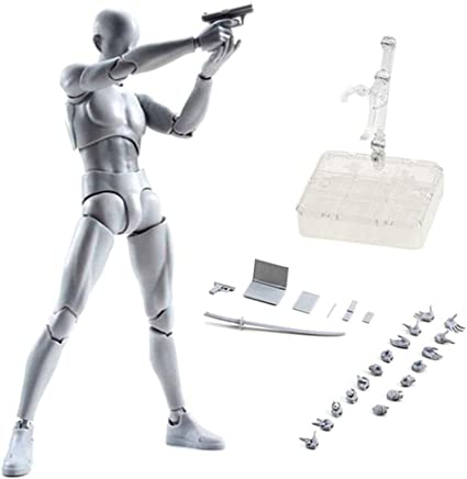 Painting Body-Chan Model Mannequin Body Kun Doll Male /& Female PVC Action Figure Model with Accessories Kit for Sketching Gray Uranny Artist Drawing