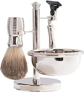 4 Piece Chrome Shaving Set