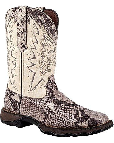 "Durango Boot Women's RD031 10"" Snake Oil Western,Grey/Whi..."