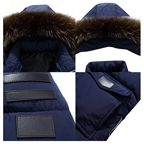 Winter Coats Hooded Long Dark Jackets Outerwear Zhuhaitf Blue Mens Thicken Down Plus 4fwRqR7