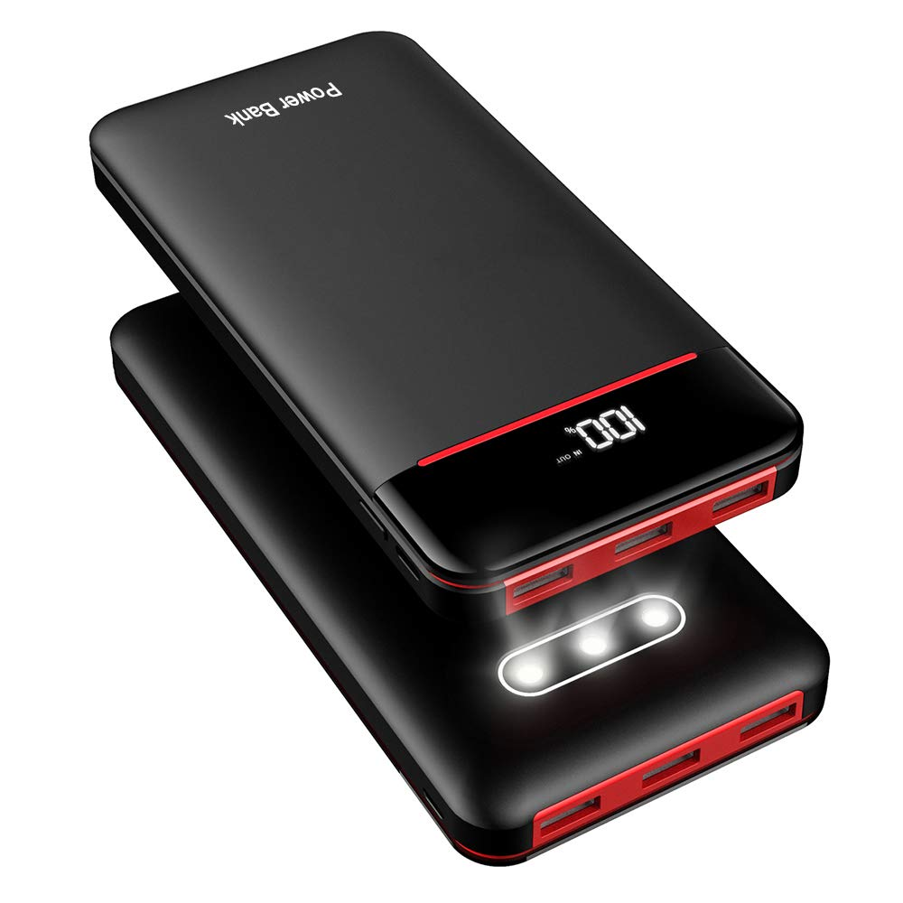 Power Bank 25000mAh Portable Charger Battery Pack with 3 Outputs & 2 Inputs Huge Capacity Backup Battery Compatible Smartphone,Tablet and More by RLERON (Image #1)
