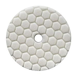 Chemical Guys BUFX114HEX5 Hex-Logic Quantum Light-Medium Polishing Pad, White (5.5 Inch)