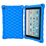 All-New Amazon Fire HD 8 Tablet Case (Compatible with 6th/7th/8th Generation Tablets, 2016 2017 2018 Releases) - DJ&RPPQ Anti Slip Shockproof Light Weight Protective Cover [Kids Friendly] - Blue