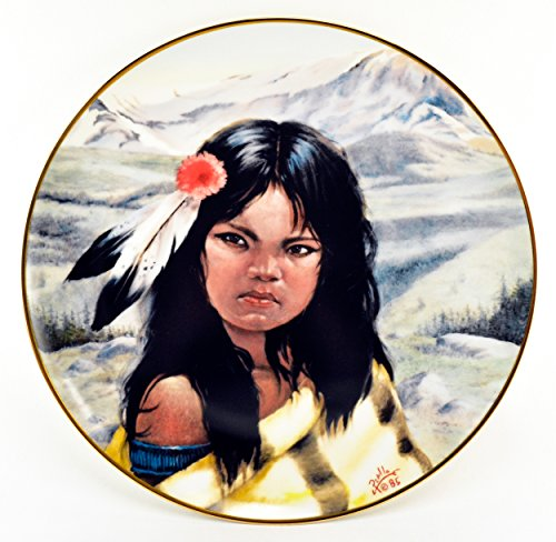 - Vague Shadows Gregory Perillo Collectors Plate - Young Chieftains Series Native American Indian Plate Young Crazy Horse c1985 w/COA
