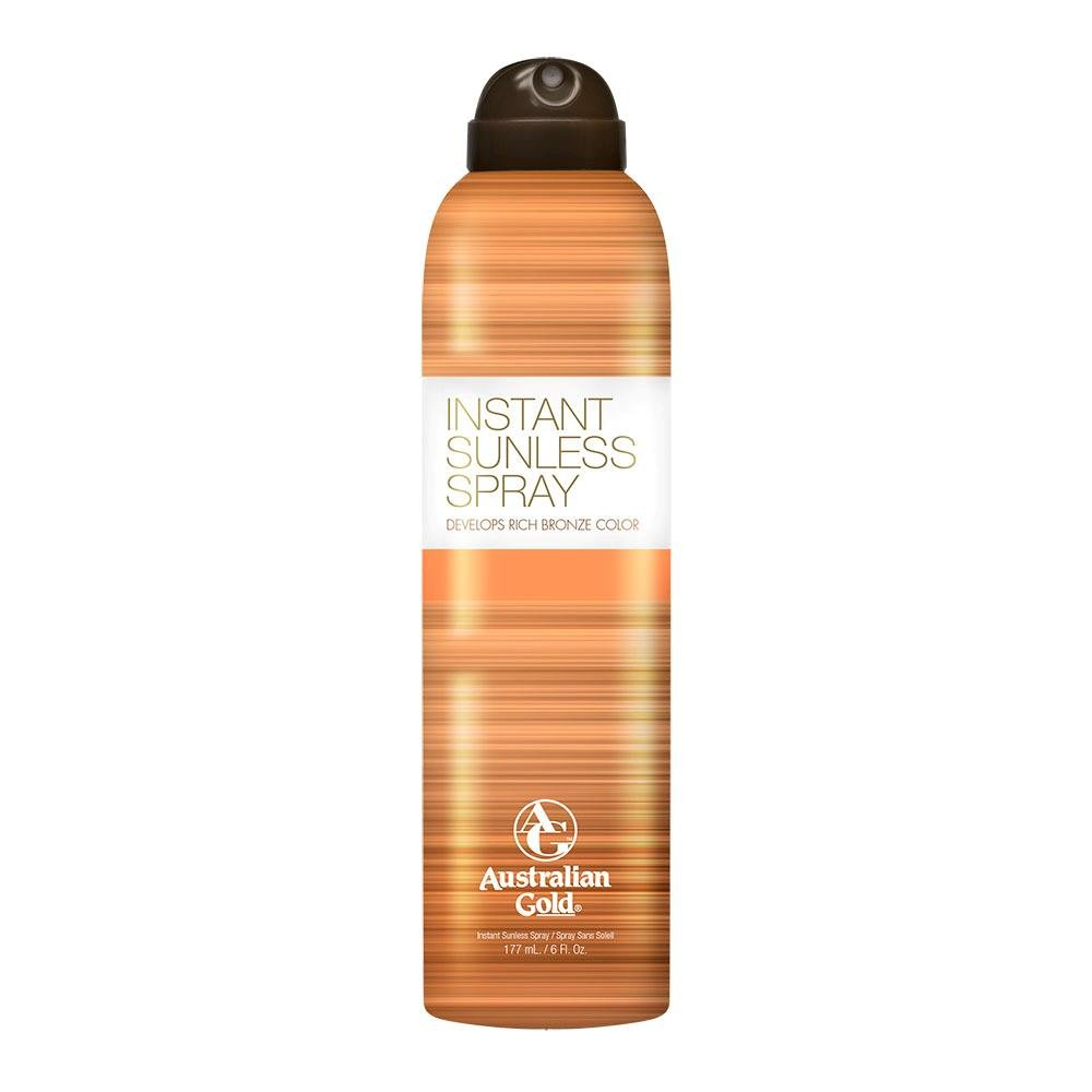 36f0f81a142 Amazon.com: Australian Gold Instant Sunless Tanning Spray, Rich Bronze  Color with Fade Defy Technology, Energizes & Softens Skin, 6 Ounce: Beauty