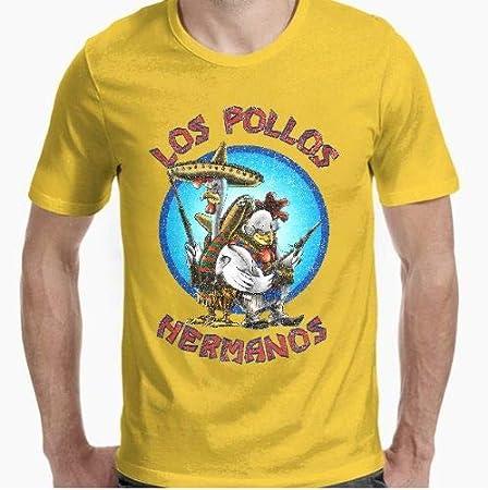 Camiseta - diseño Original - los Pollos Hermanos - S: Amazon.es: Hogar