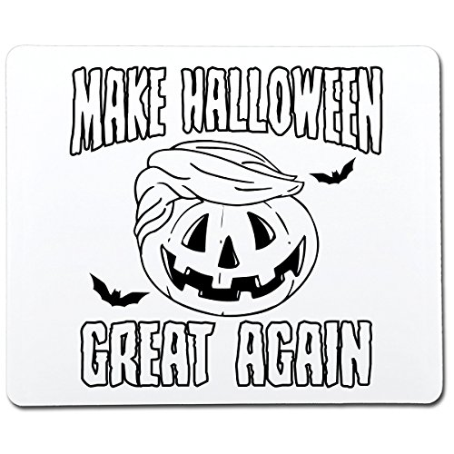 Make Halloween Great Again Funny Gag Gift Co-Worker Gift Novelty Mouse Pad Computer Accessory Gift for Dad]()