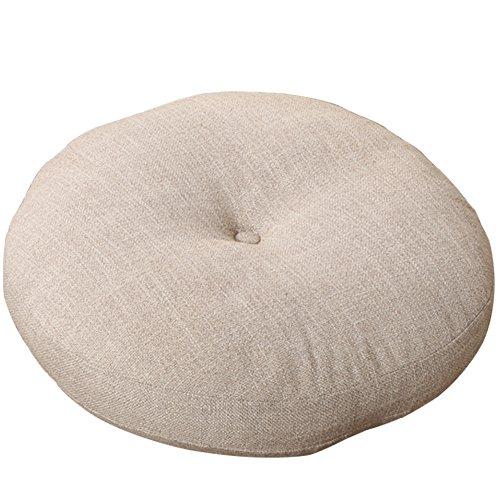 A.B Crew Japanese Style Linen Zafu Meditation Yoga Bolster Tatami Floor Round (Japanese Cushion)